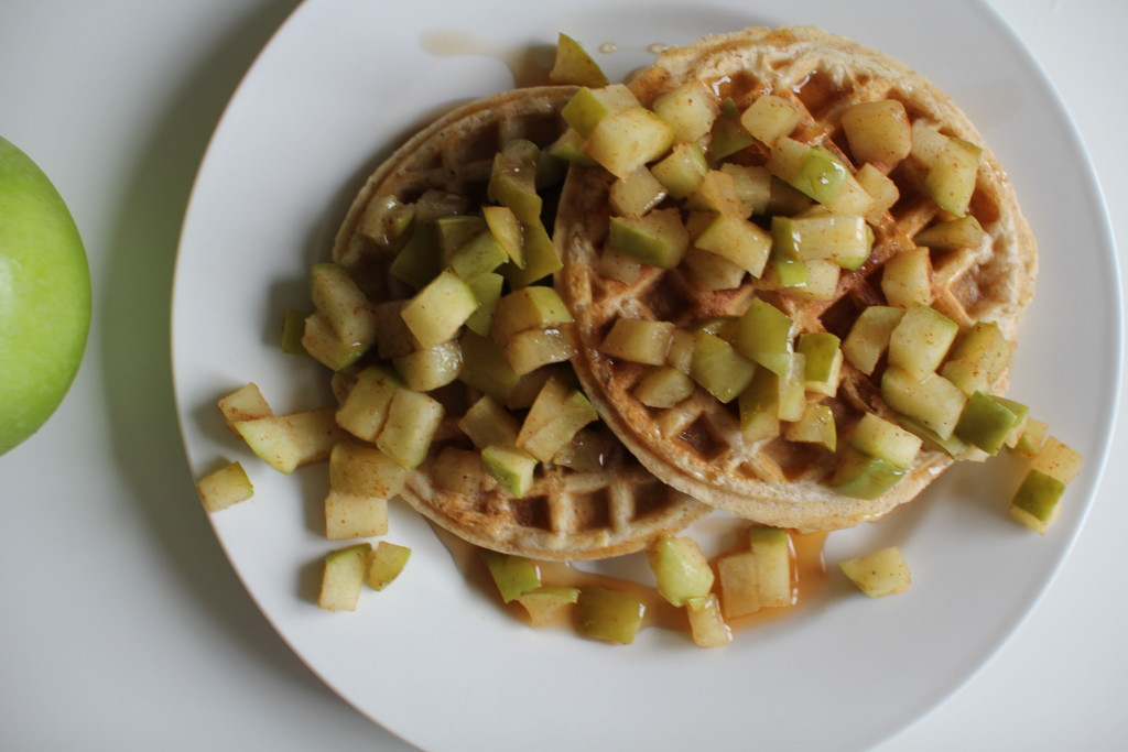 Apple waffles PS syrup