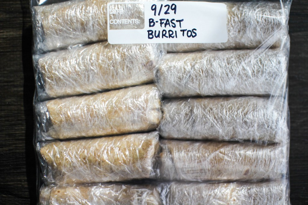 Burritos bagged