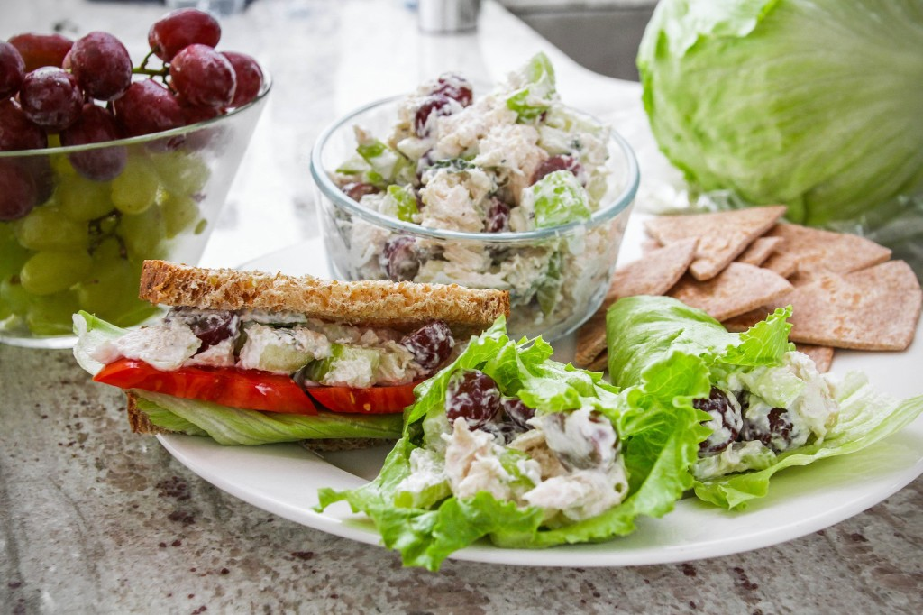 light chicken salad sandwich