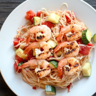 Shrimp and Zucchini Capellini