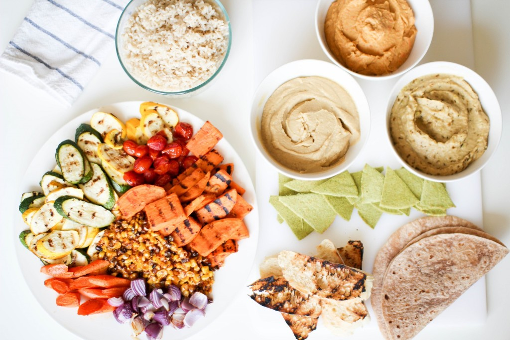 grilled veggies and hummus trio Recipe Righter
