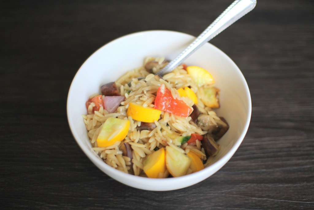 Grilled Veggies and Orzo- Recipe Righter