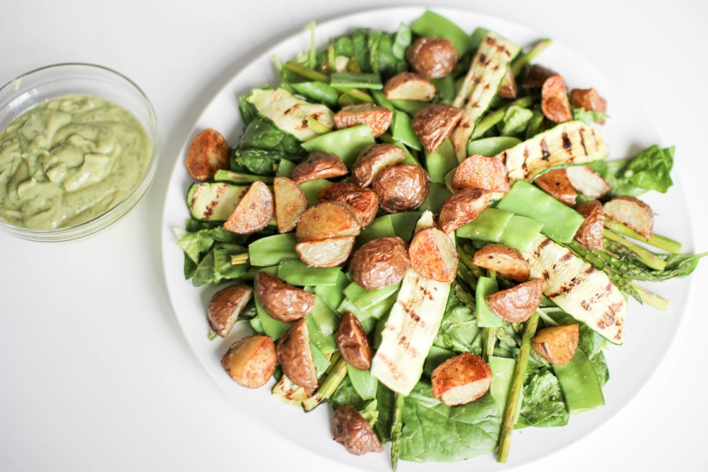 Magic Green Salad and dressing- Recipe Righter