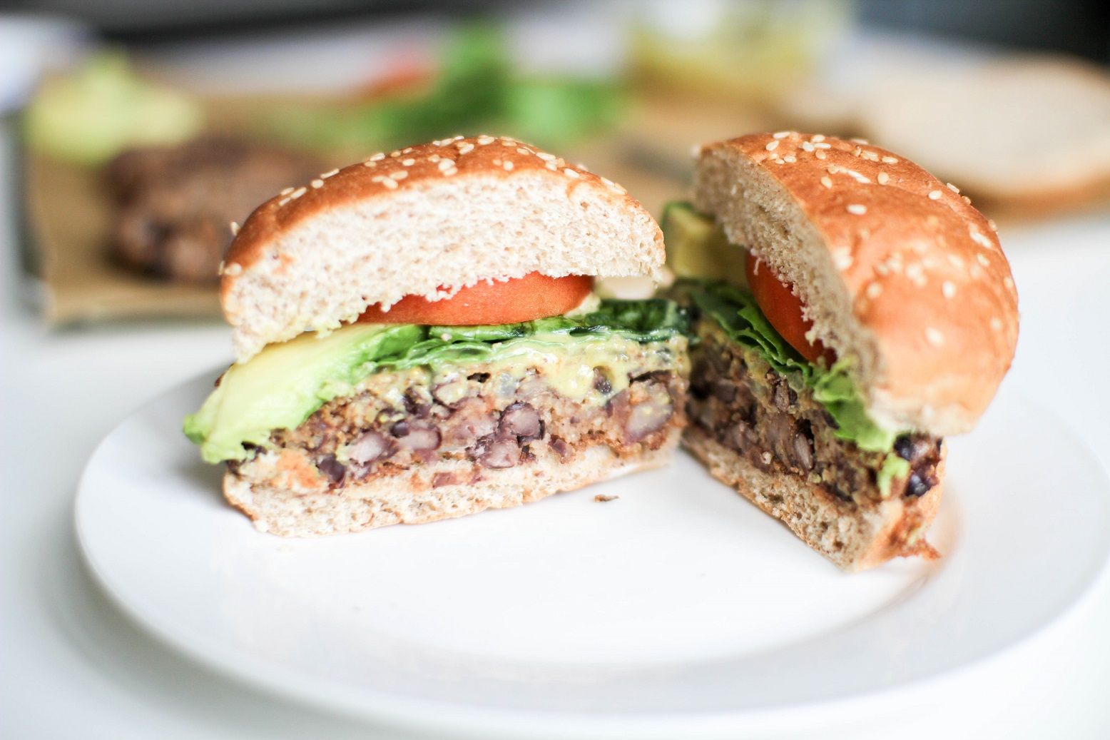 Black Bean Couscous Burgers- Recipe Righter
