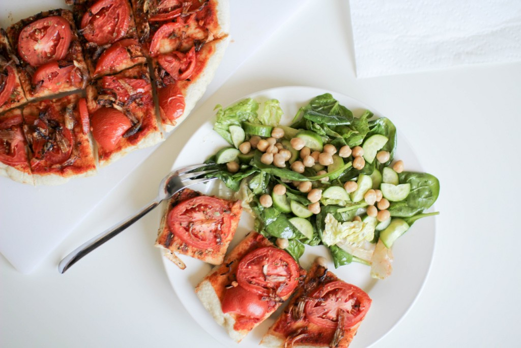 Flatbread and Salad- Recipe Righter