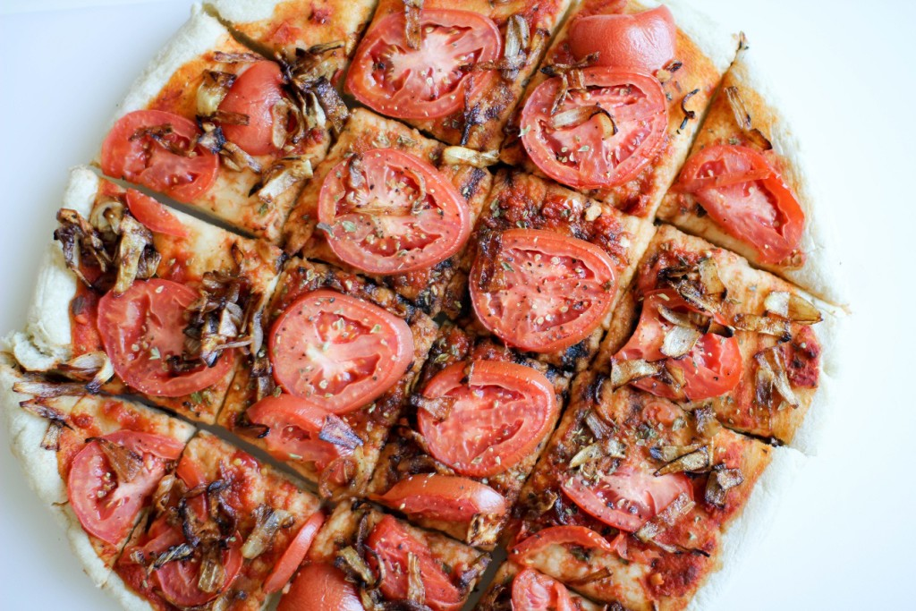 Tomato and Caramelized Onion Flatbread- Recipe Righter