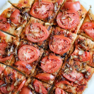 Tomato and Caramelized Onion Flatbread