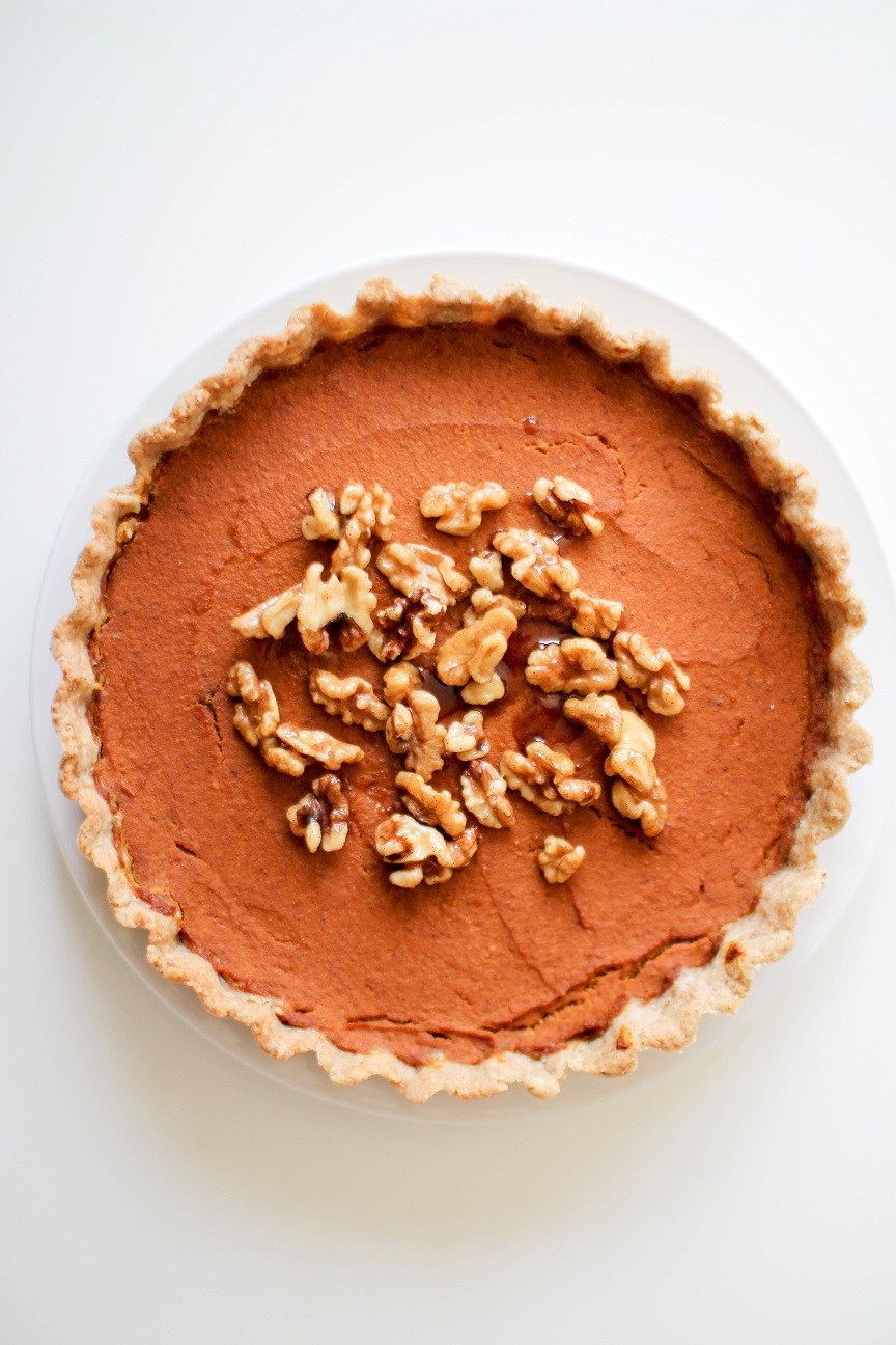 Baked Vegan Pumpkin Pie- Recipe Righter