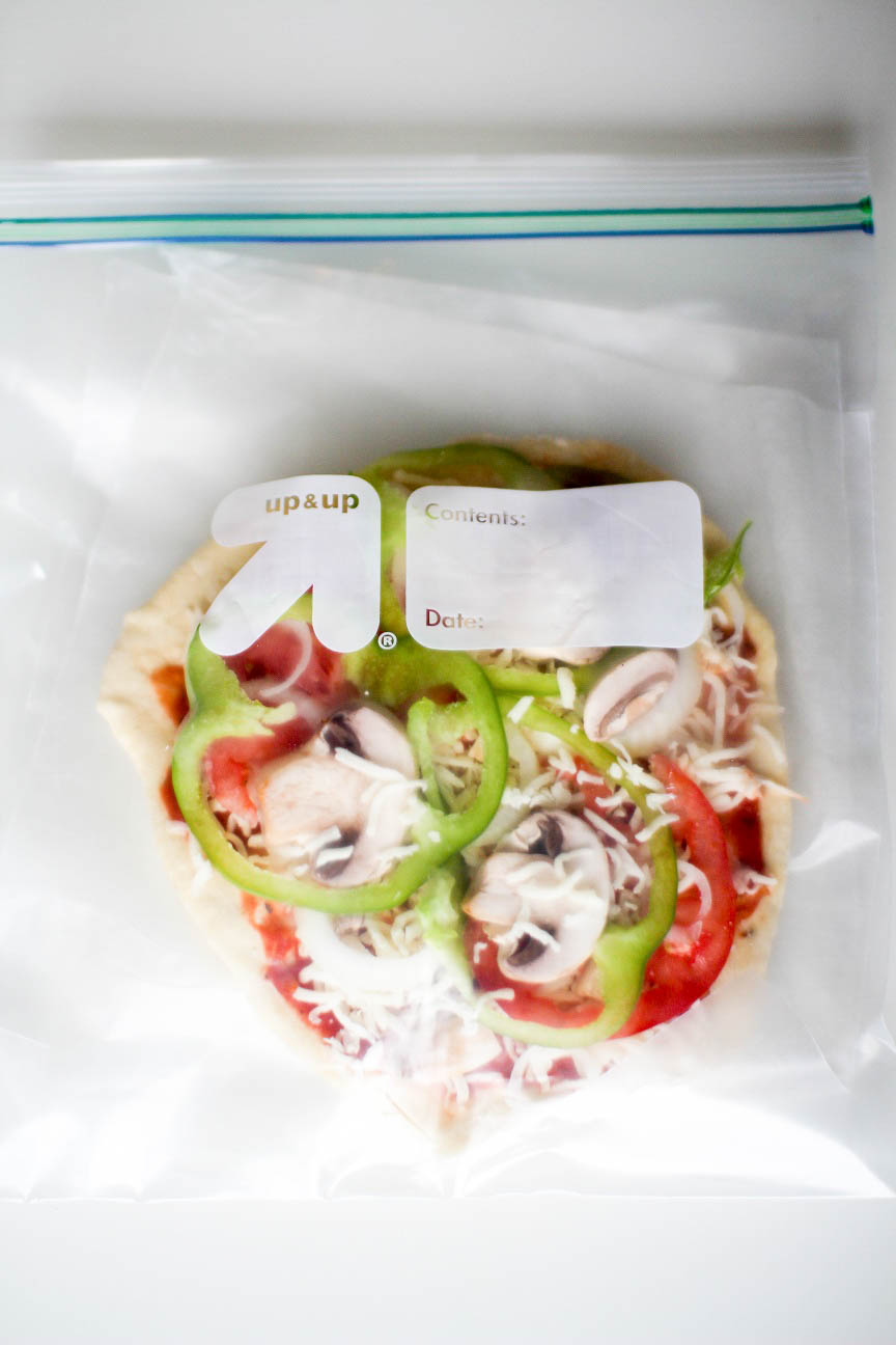 Frozen Freezer Veggie Pizzas - Recipe Righter