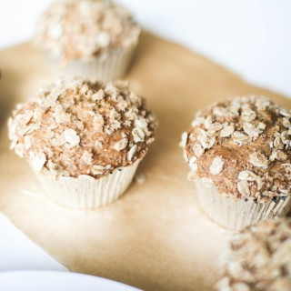 Banana-Nut muffins with Oat topping