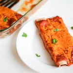 Vegetarian Black Bean Enchilada- Recipe Righter