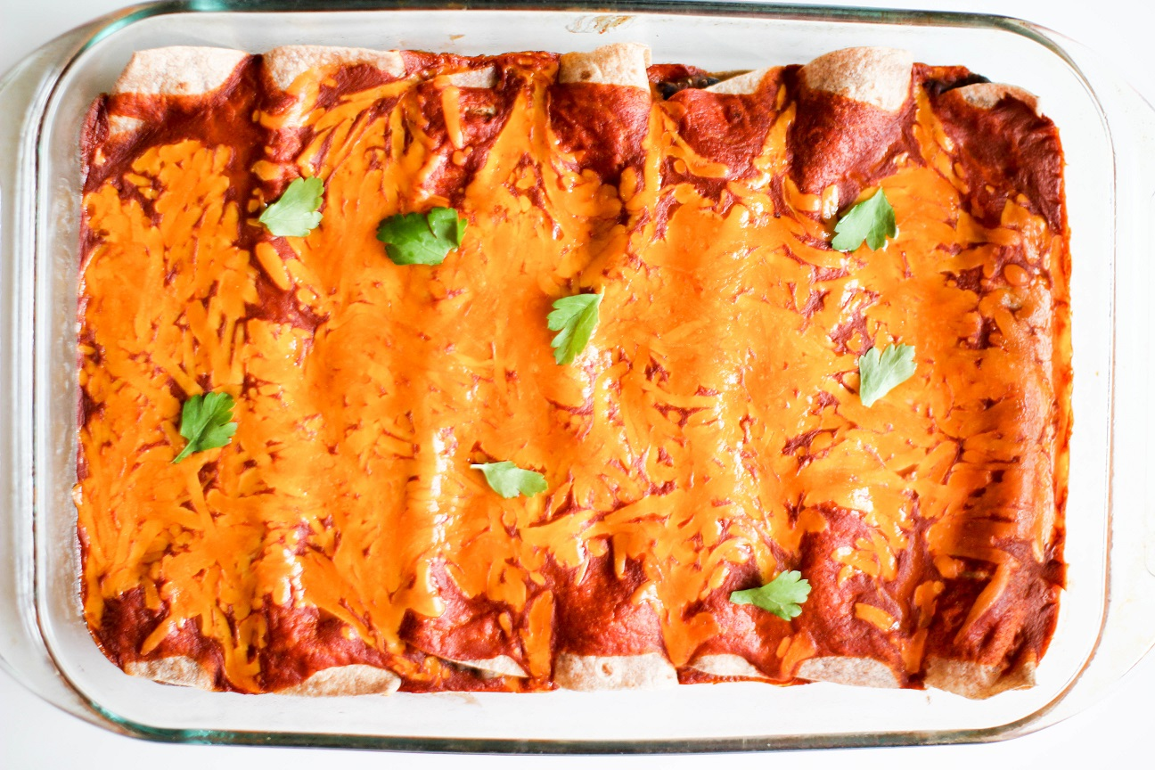 Vegetarian Black Bean Enchiladas- Recipe Righter