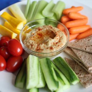 Homemade Hummus and Veggies