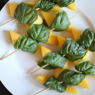Mango Basil Kebobs