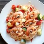 Shrimp n zucchini capellini