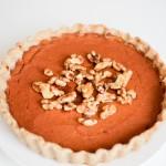 Baked Walnut Vegan Pumpkin Pie- Recipe Righter
